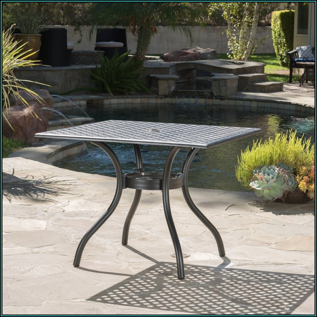 Black Square Patio Table