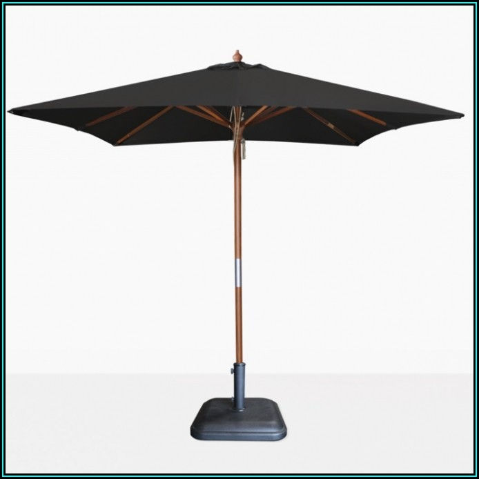 Black Square Patio Umbrella