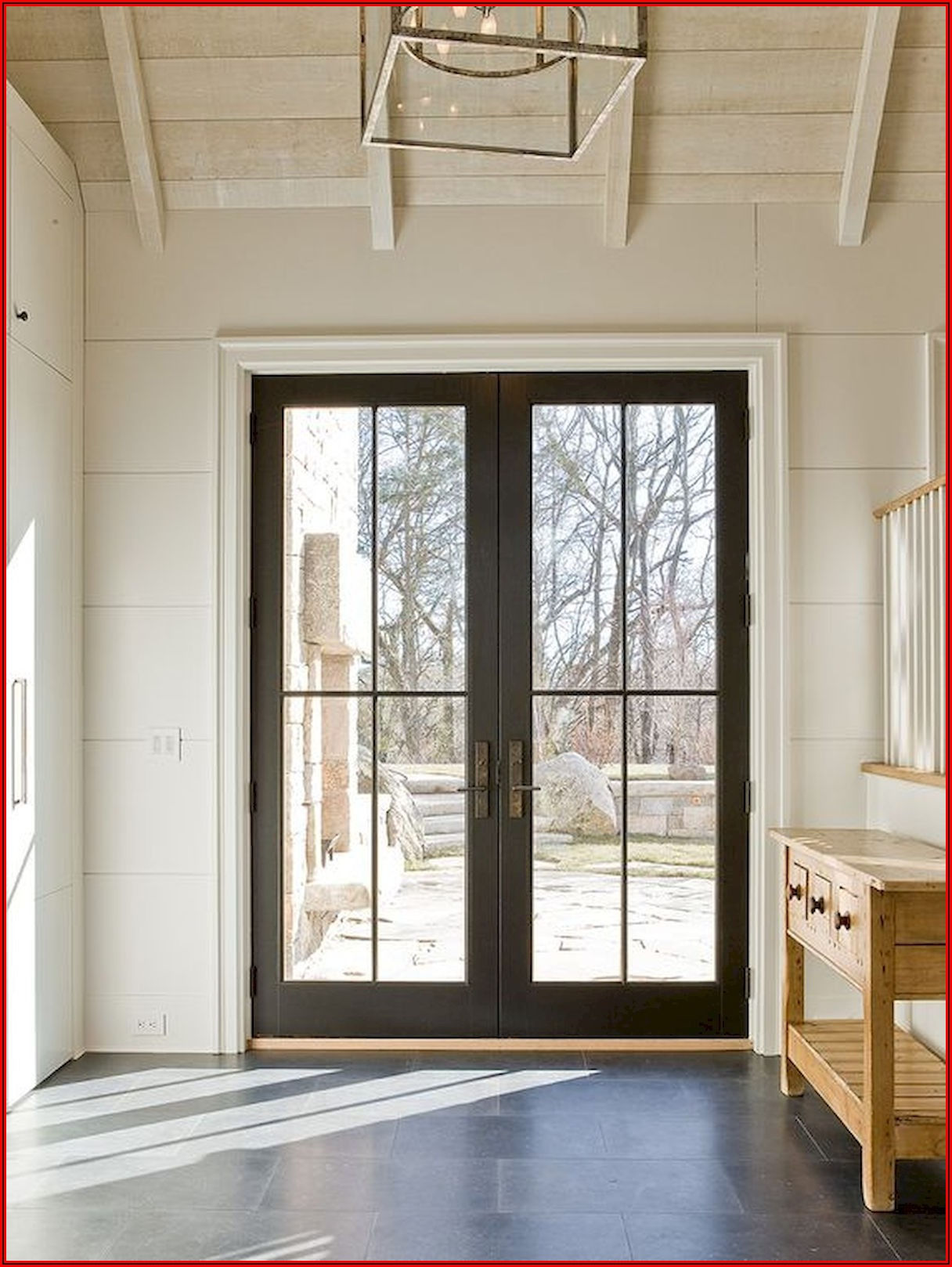 Black Steel French Patio Doors