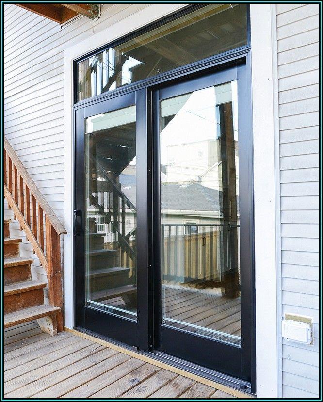 Black Steel Sliding Patio Doors