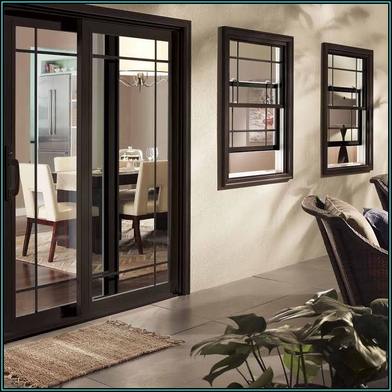 Black Vinyl Sliding Patio Doors