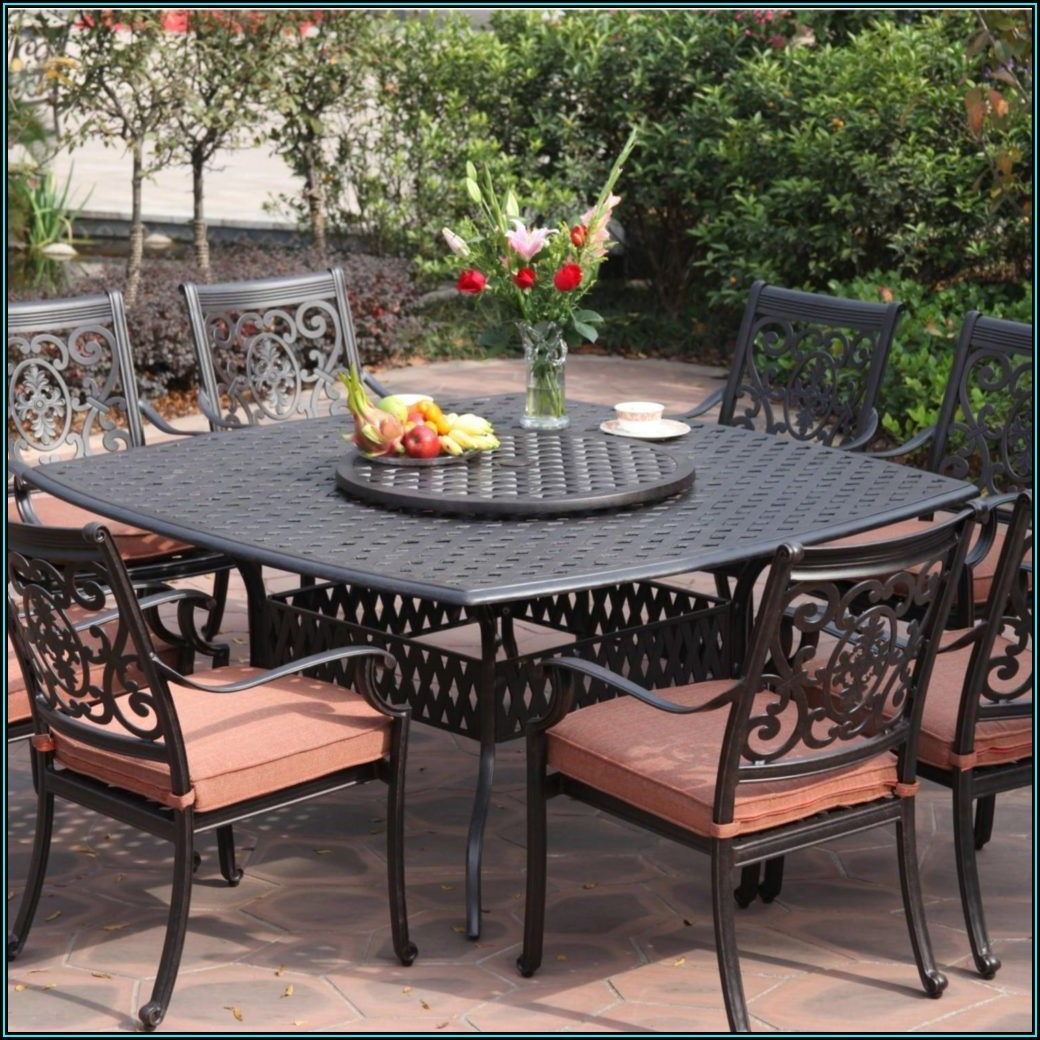Black Wrought Iron Patio Set