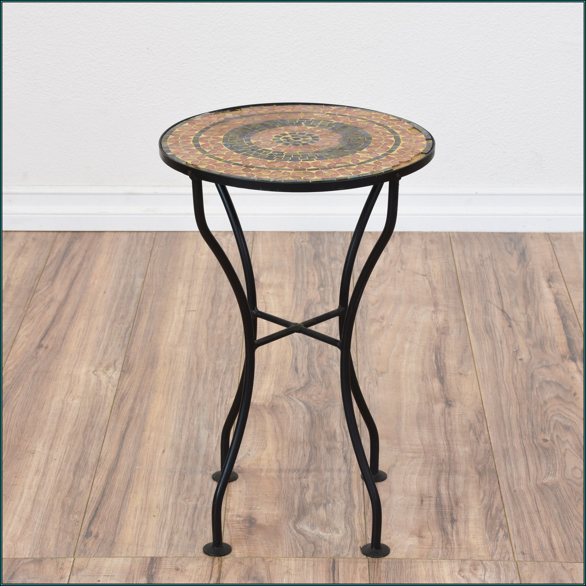 Black Wrought Iron Patio Table