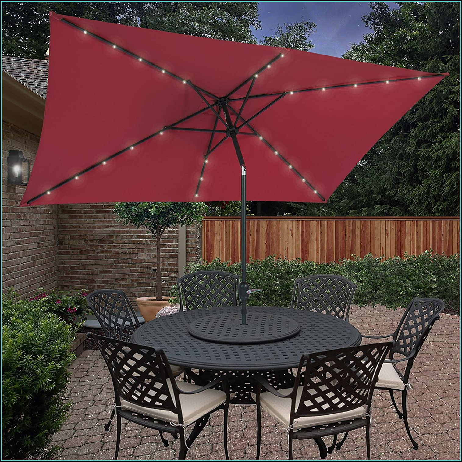 Blissun Rectangular Patio Umbrella