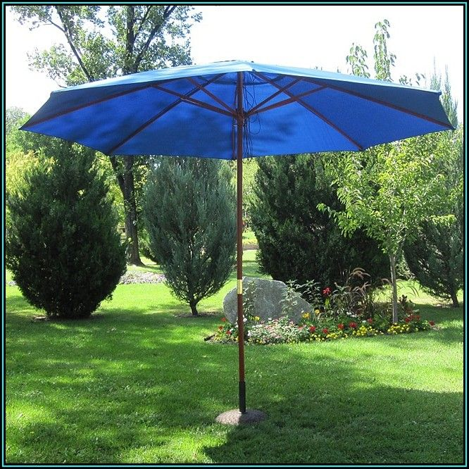 Blue Outdoor Patio Umbrellas