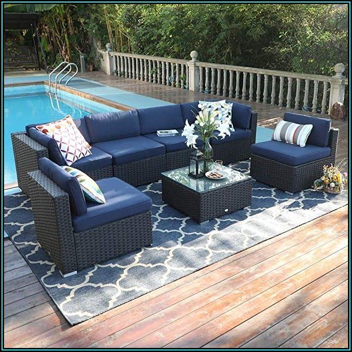 Blue Patio Furniture Set