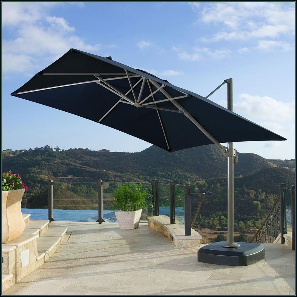 Blue Rectangular Patio Umbrella