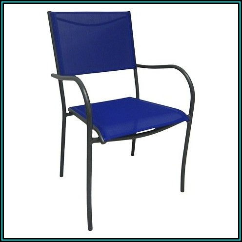 Blue Sling Patio Chairs