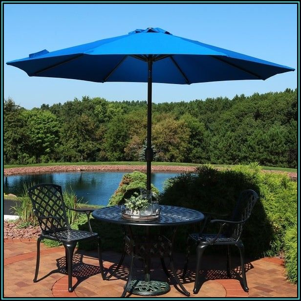 Blue Tilt Patio Umbrella