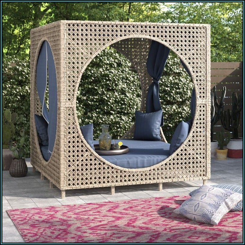 Brennon Cube Patio Daybed With Cushion