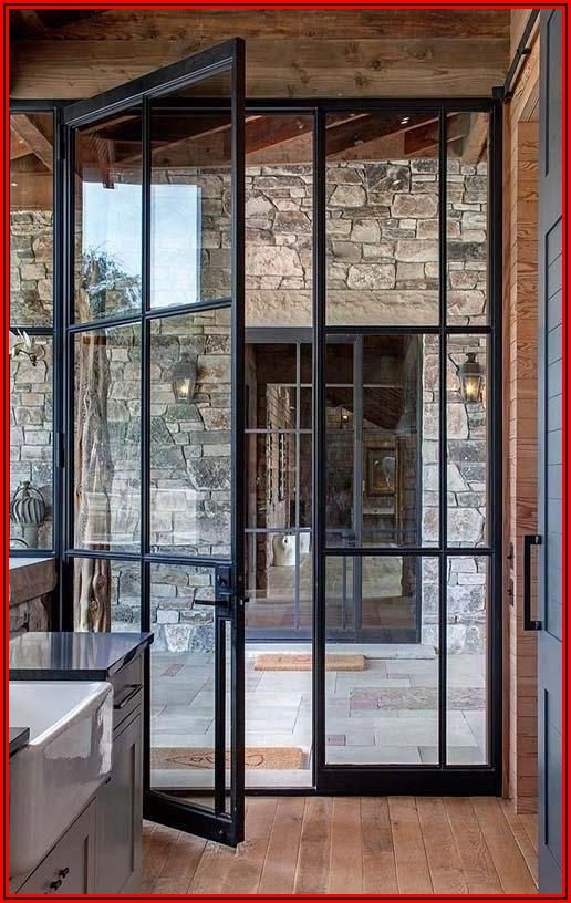 Modern Black French Patio Doors