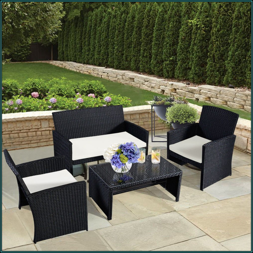 Outdoor Black Wicker Patio Furniture