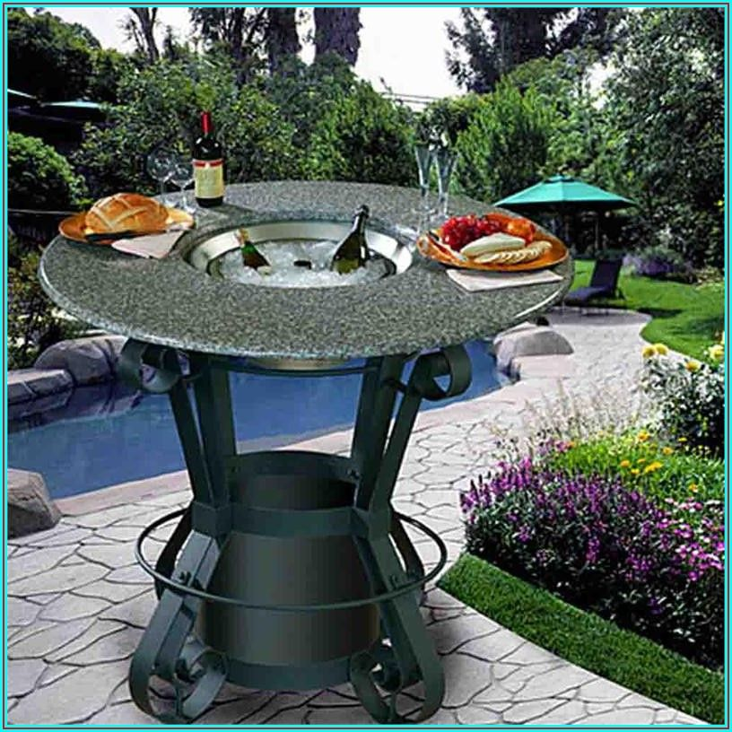 Patio Bar Height Fire Table
