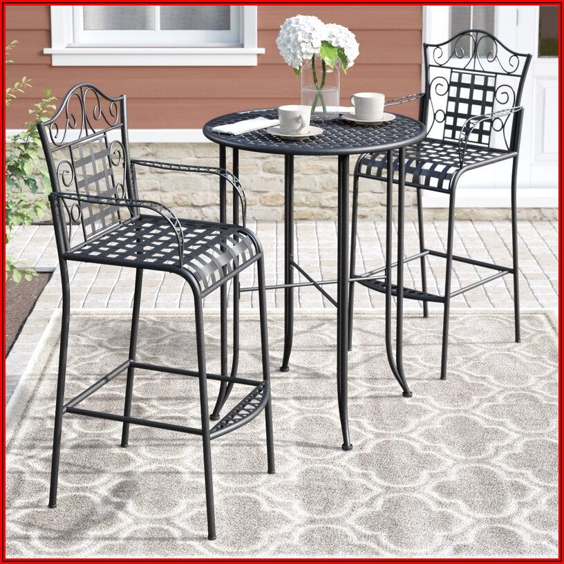 Wrought Iron Bistro Patio Set