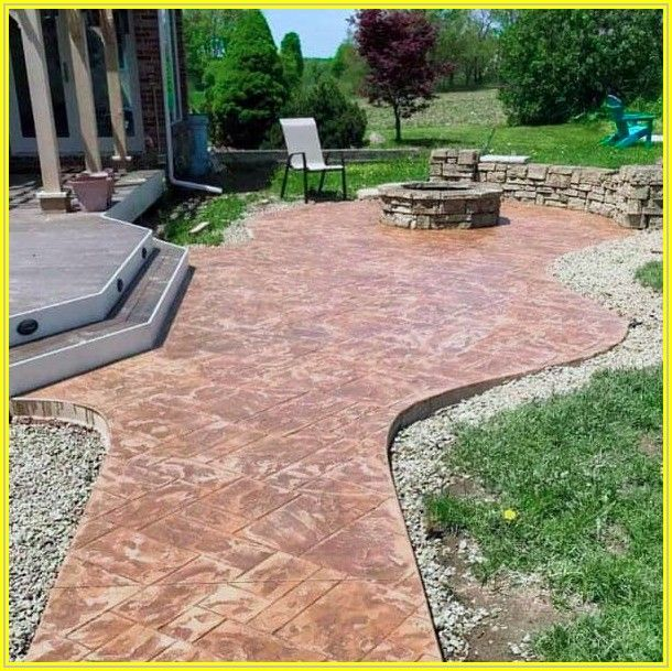 Brick Stamped Concrete Patios