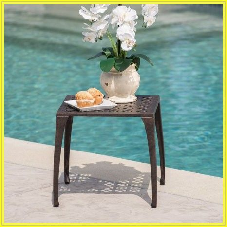 Bronze Patio Side Table