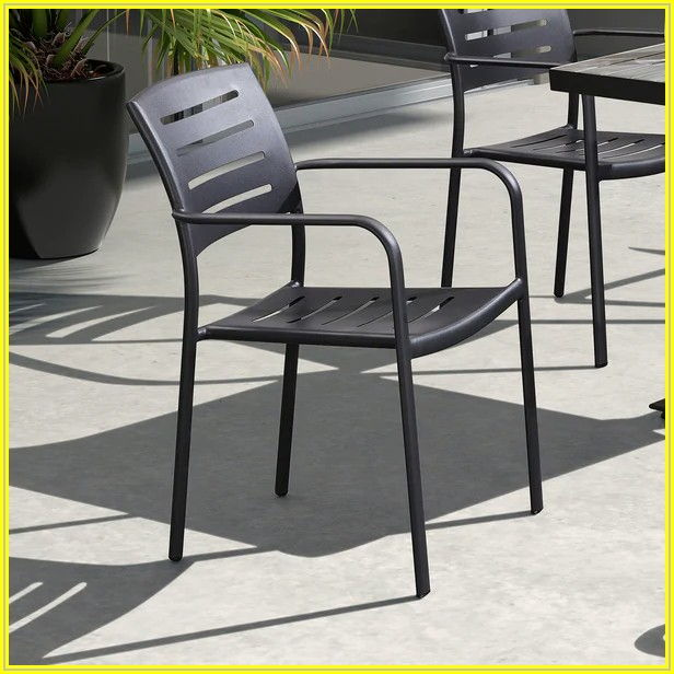 Brown Aluminum Patio Chairs