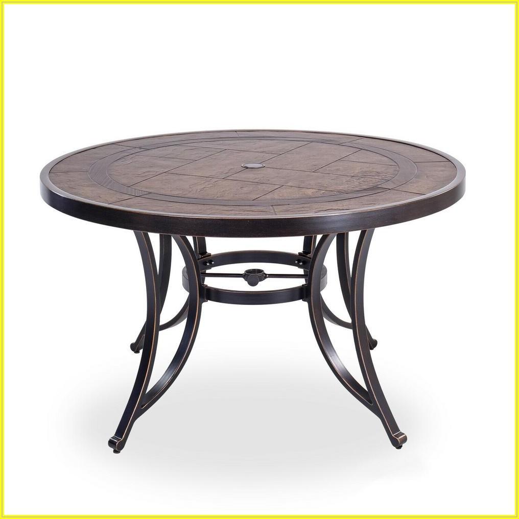 Brown Aluminum Patio Table