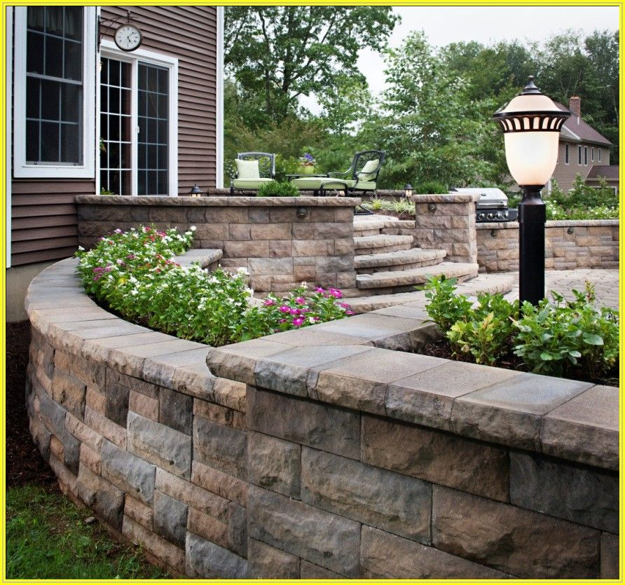 Building A Raised Patio With Retaining Wall