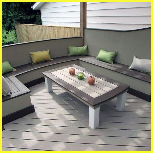 Built In Patio Bench Seating