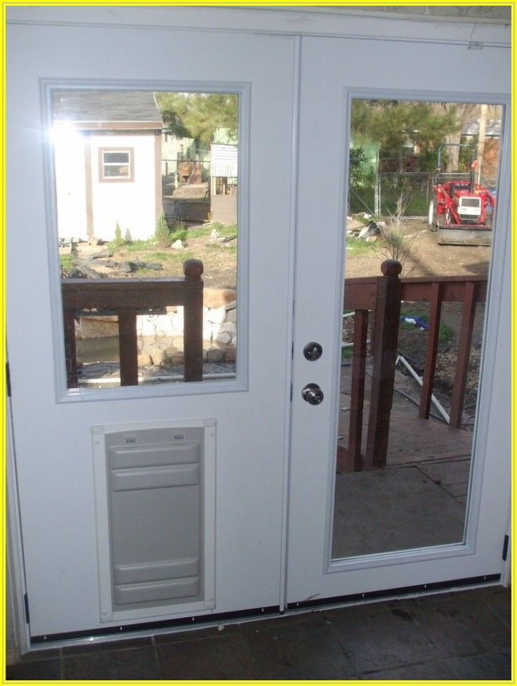 Built In Pet Door Patio