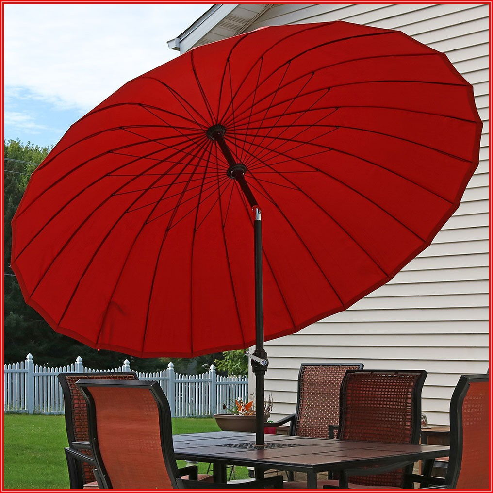 Burnt Orange Patio Umbrella