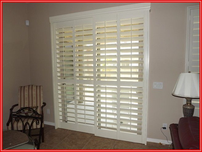 Bypass Plantation Shutters For Patio Doors