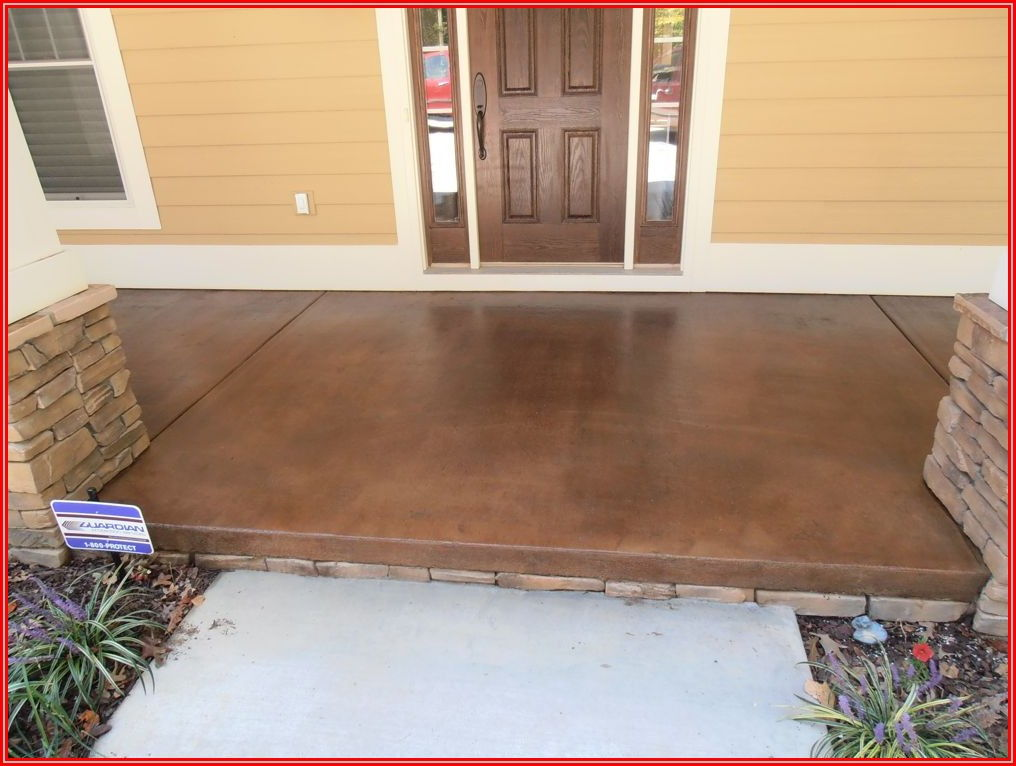 Can You Stain A Concrete Patio