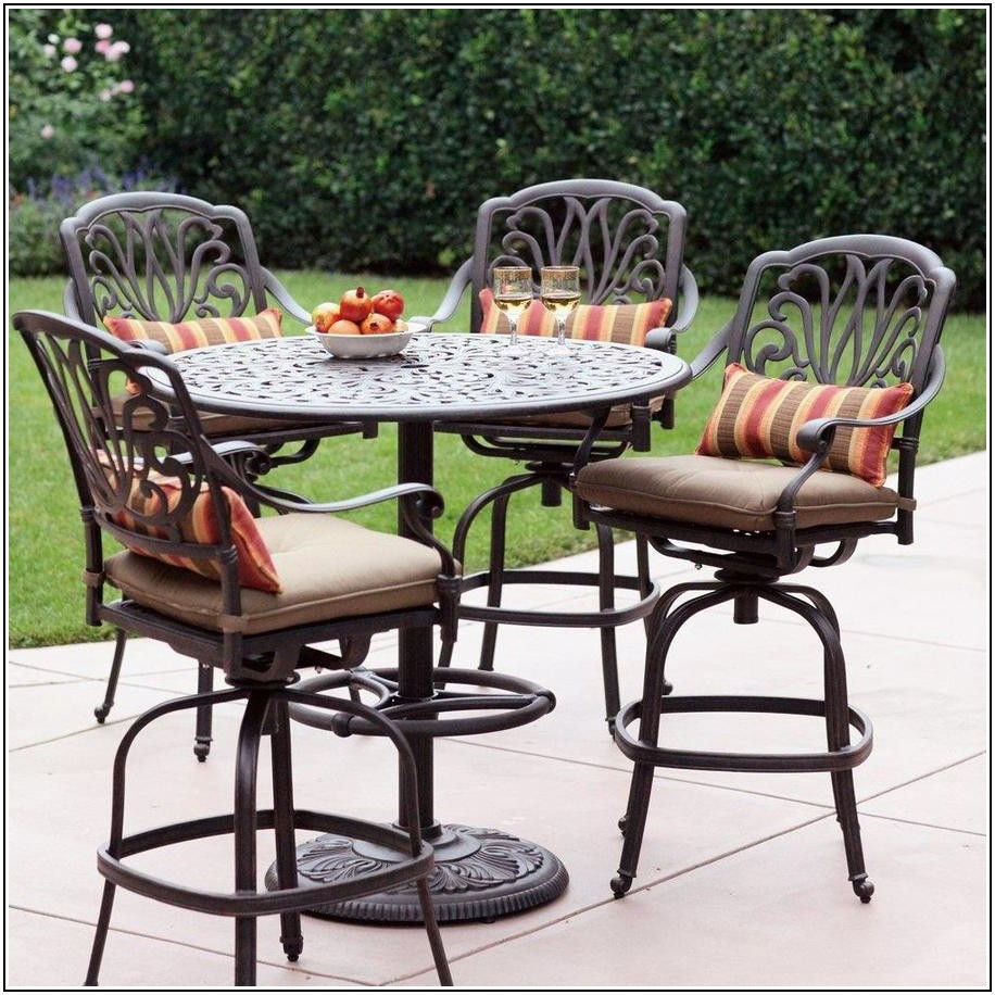 Cast Aluminum Bar Height Patio Furniture