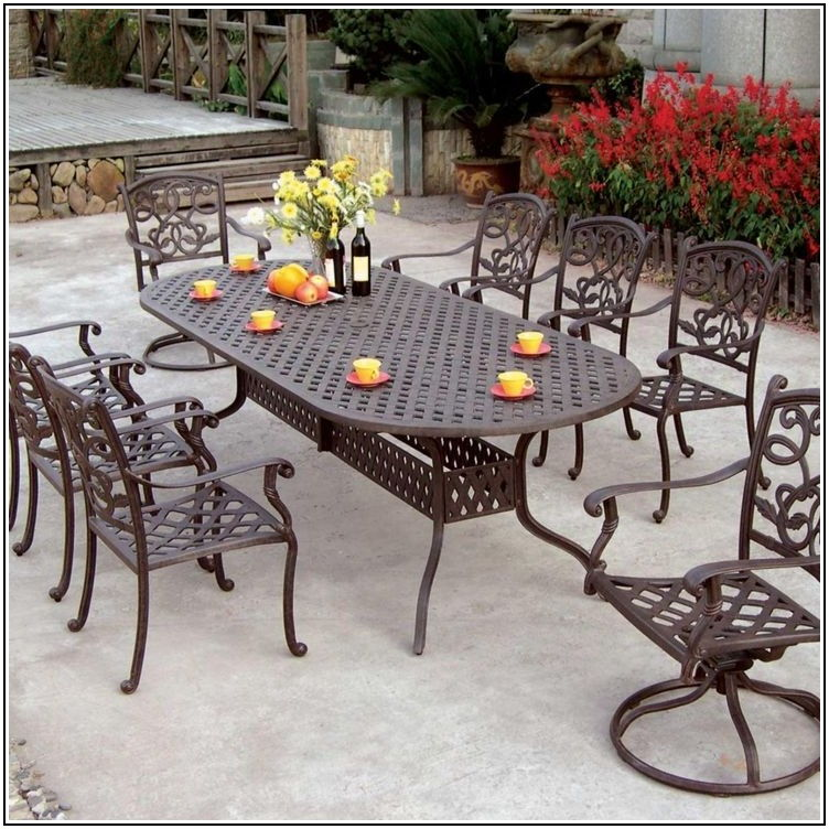 Cast Aluminum Patio Furniture 9 Piece