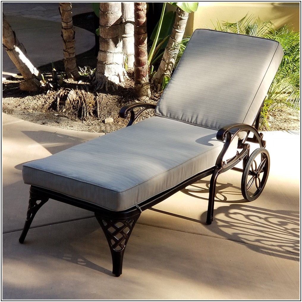 Cast Aluminum Patio Furniture Chaise Lounge