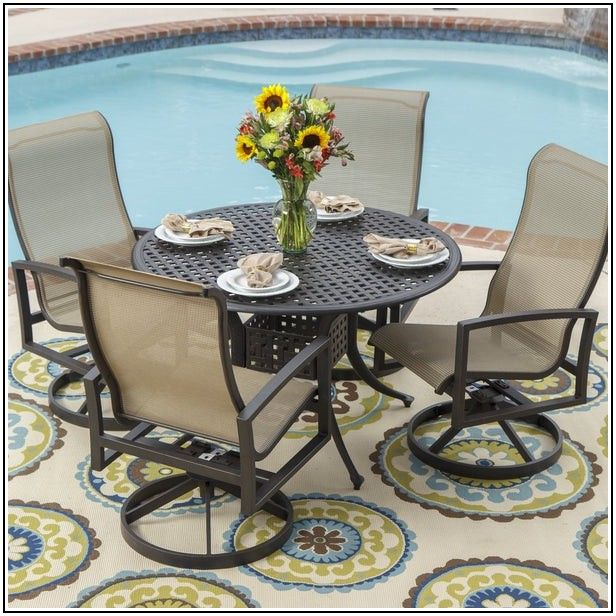 Cast Aluminum Patio Table Set