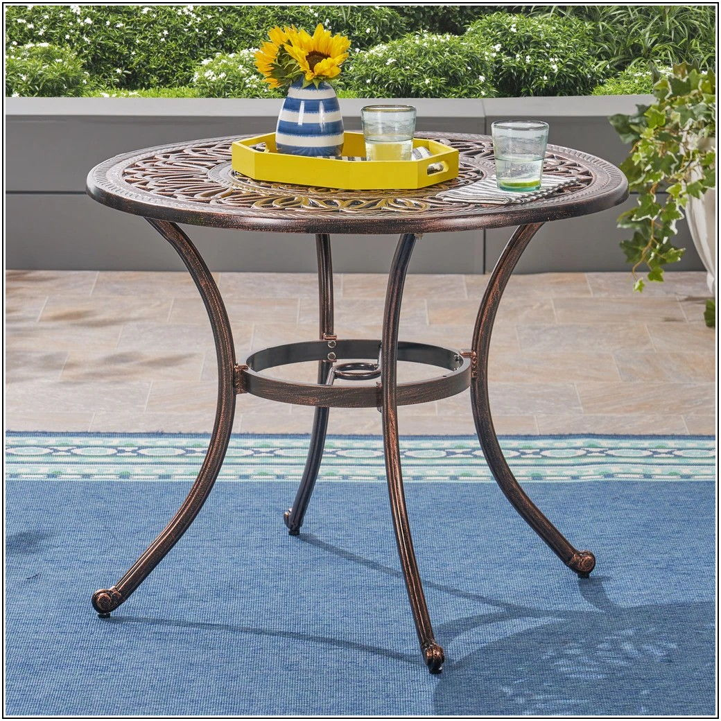 Cast Aluminum Round Patio Set
