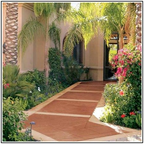 Cement Patio Paint Ideas
