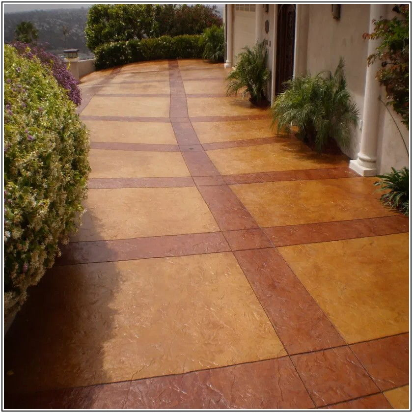 Cement Patio Stain Colors