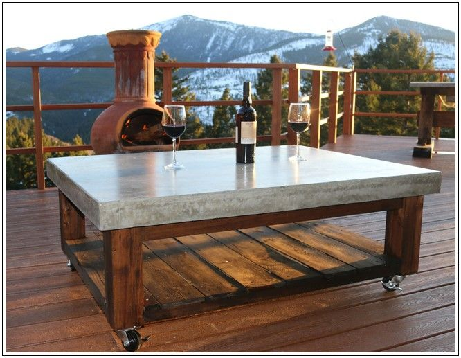 Cement Patio Table Tops