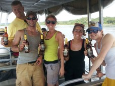 Nothing like an ice cold (I use ice cold loosely) Nile Special on the Nile River!