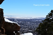 View of the city of Boulder from Mt. Sanitas