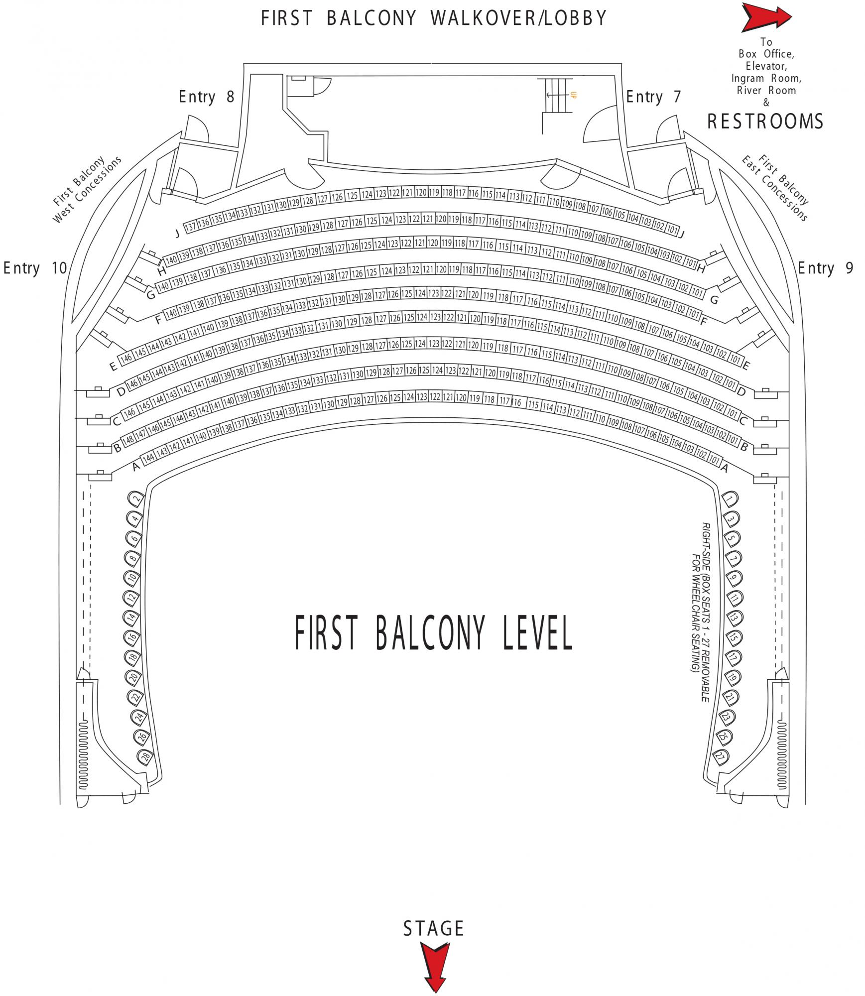 Carson Center Seating Chart