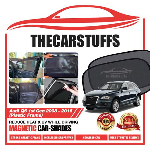 Audi Car Sunshade for Q5 1st Gen 2008 - 2016 (Plastic Frame)