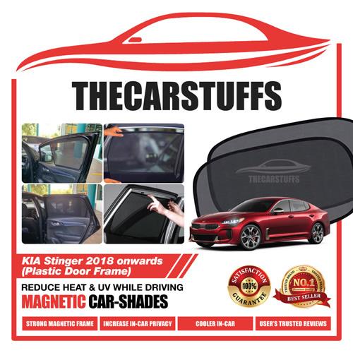 Kia Car Sunshade for Stinger 2018 Onwards (Plastic Door Frame)