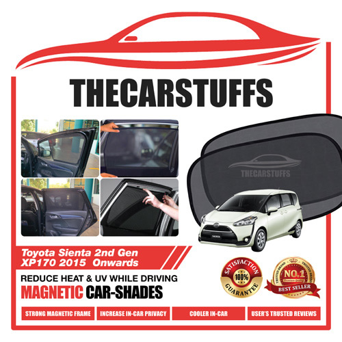 Toyota Car Sunshade for Sienta 2nd Gen XP170 2015 Onwards