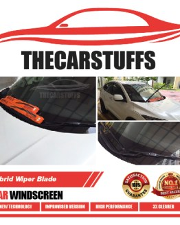 Hybrid Wiper Blade for Car Windscreen