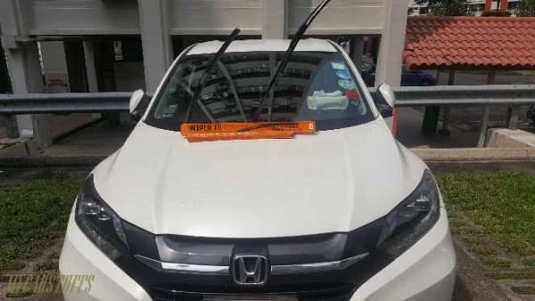 Hybrid Wiper Blade for Car Windscreen