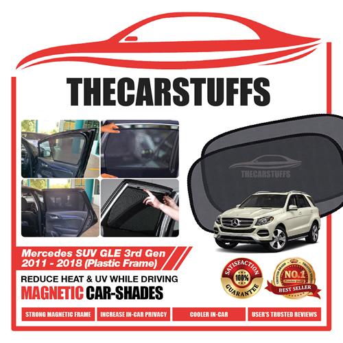 Mercedes Car Sunshade for GLE SUV 3rd Gen 2011 - 2018 (Plastic Frame)