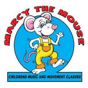 Marcy the mouse cartoon character, cartoon mouse dancing about - children music and movement classes