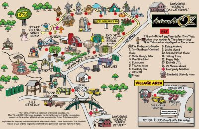 Cartoon map for Land Of Oz