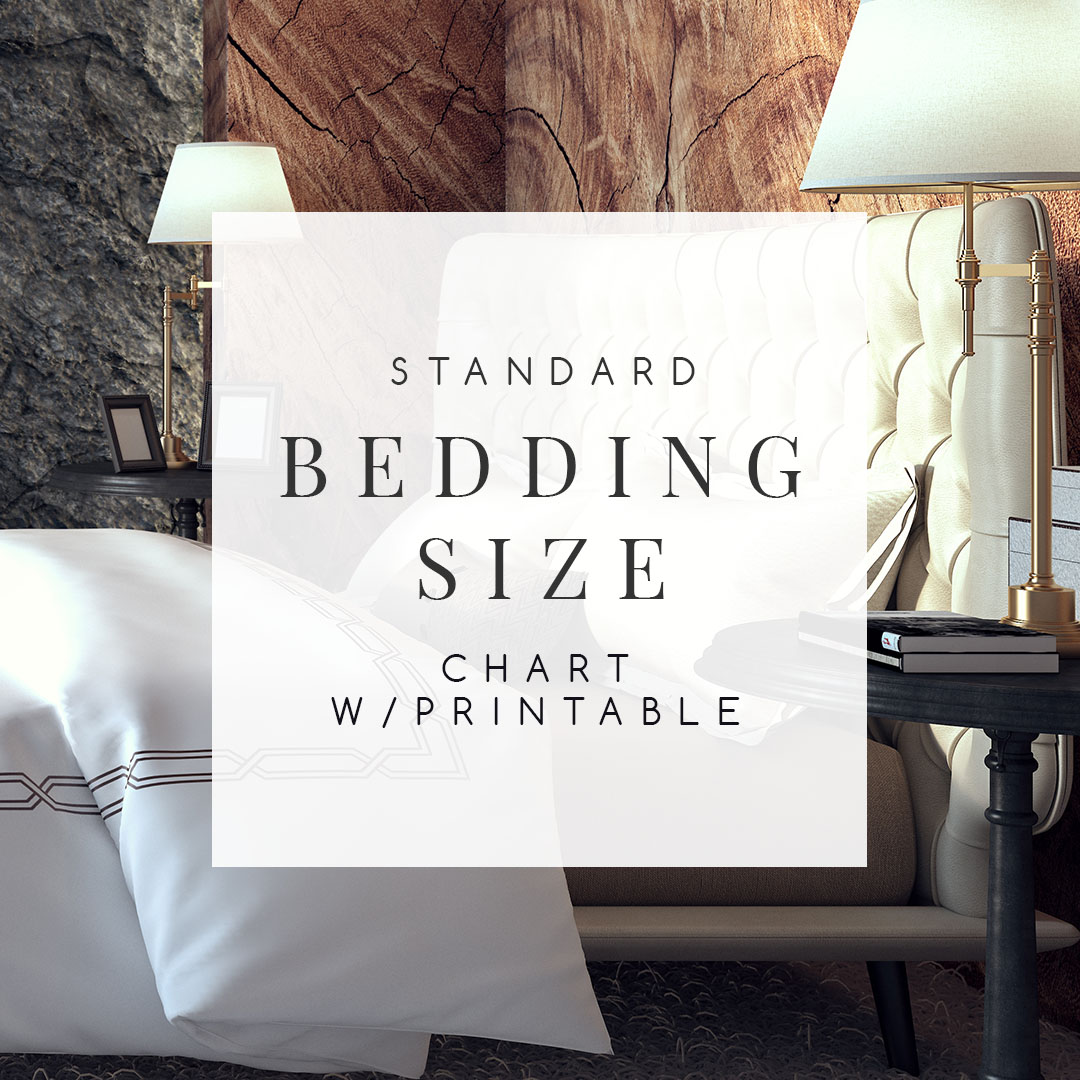 Bedding Size Chart What Size Mattress Amp Sheets You Really