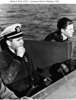 Photographed while on board a Motor Torpedo Boat (PT), circa 1942. Official U.S. Navy Photograph, now in the collections of the National Archives.