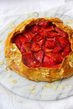 Rhubarb and strawberry galette gluten free pastry tart pie 2